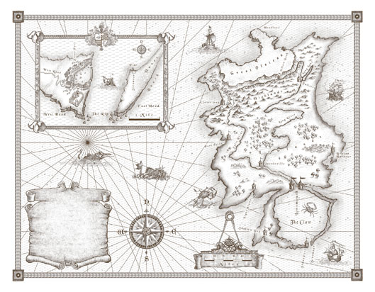 The world of the Ship Kings - a map